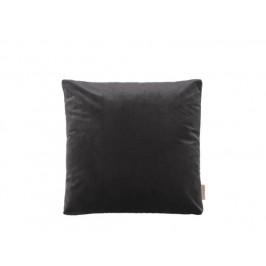 Sametový polštář 45 x 45 cm tmavě šedý