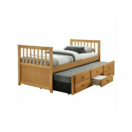 Rozkládací postel Rugz, dub