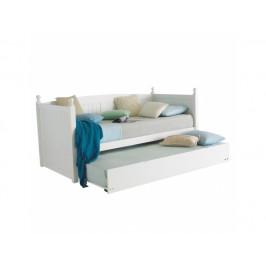 Rozkládací postel Kadge, bílá