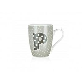 BANQUET Hrnek keramický ABC 340 ml, písmeno P