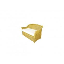 Ratanová lavice s úložným prostorem, světlá
