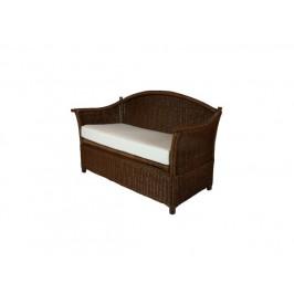 Ratanová lavice s úložným prostorem, tmavá
