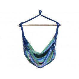 Závěsná houpačka BRASIL, modrá s pruhy