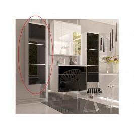 Vysoká koupelnová skříňka MASON BL11, bílá / černý HG