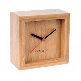 Designový bambusový budík 5686 Karlsson 10cm