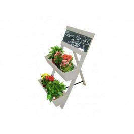 Stojan na květiny s tabulí