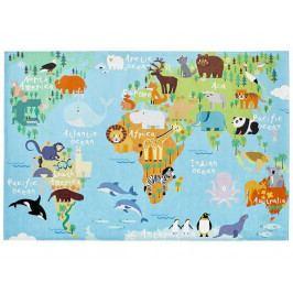 Dětský koberec Torino Kids 233 world map