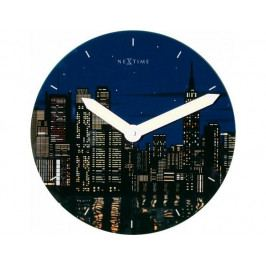Designové nástěnné luminescenční hodiny 8819 Nextime New York 30cm