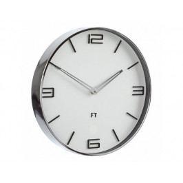 Designové nástěnné hodiny Future Time FT3010WH Flat white 30cm