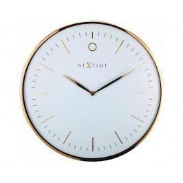 Designové nástěnné hodiny 3235wi Nextime Glamour 40cm