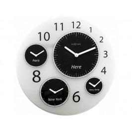 Designové nástěnné hodiny 3101 Nextime Big World 52cm