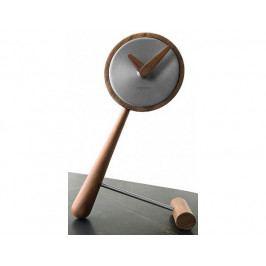 Designové stolní hodiny Nomon Small Puntero Graphite 26cm