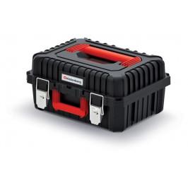 PlasticFuture Kufr na nářadí HARDY s kovovými zámky černo-červený