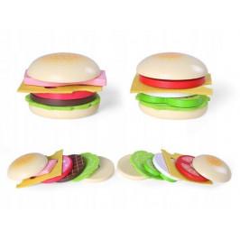 ECOTOYS Dřevěný hamburger pro děti