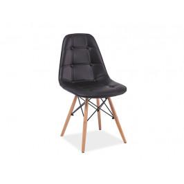 Designová jídelní židle Alexis, černá