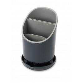 Odkapávací stojánek na příbory, nože a nástroje JOSEPH JOSEPH Dock™, šedý