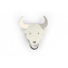 Věšáček na klíče QUALY Bull Key Holder, býk bílý