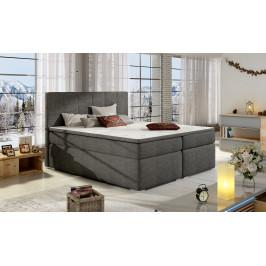 Moderní box spring postel Borles 180x200, šedá