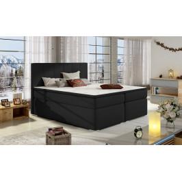Moderní box spring postel Borles 180x200, černá
