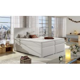 Moderní box spring postel Borles 180x200, bílá