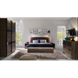 Ložnicový nábytek Drake B, dub monastery/černý lesk