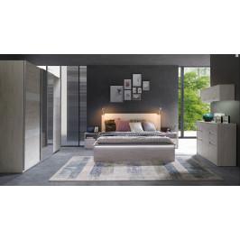 Ložnicový nábytek Drake C, dub bílý/grafit lesk