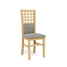 Jídelní židle Girona, dub medový/šedá