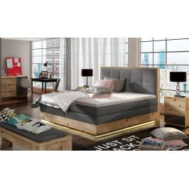 Luxusní box spring postel Esko 160x200 + LED