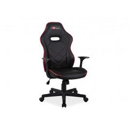 Kancelářská židle SIG630, černá/červená