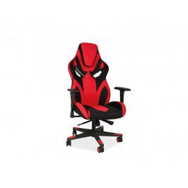 Kancelářské křeslo SIG633, černá/červená