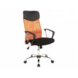 Kancelářské křeslo SIG639, oranžové/černé