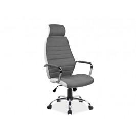 Kancelářské křeslo SIG641, šedá/bílá