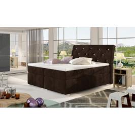 Moderní box spring postel Bralin 180x200, hnědá