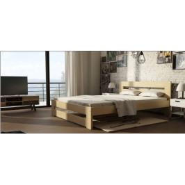 Manželská postel z masivu Marcela 160x200cm DLM: Dekor Přírodní