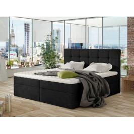 Moderní box spring postel Nestor 160x200, černá
