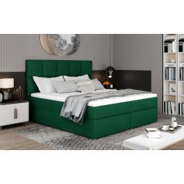 Box spring postel Grass 200x185cm, zelená Žinilka