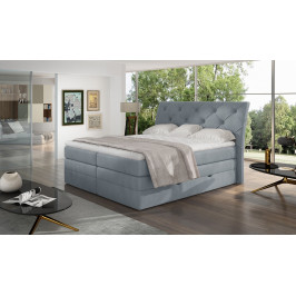 Kvalitní box spring postel Marek 180x200, šedá Solar