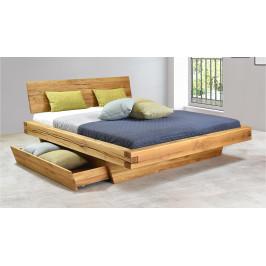 Luxusní dubová postel Matio, 180x200cm s úložným prostorem