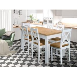 Moderní jídelní set Oregon (rozkládací stůl + 6x židle)