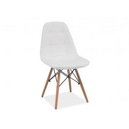 Designová jídelní židle Alexis, bílá
