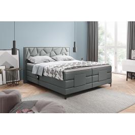 Kvalitní box spring postel Hermes 180x200 s výběrem potahu!  WSL: Potah Režná látka Flash 17 šedá