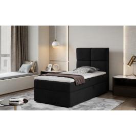 Moderní box spring postel Garda 90x200, černá Savana
