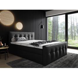 Kontinentální postel Mirage 120x200, černá