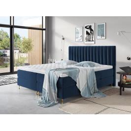 Elegantní box spring postel Eleanor 180x200, modrá