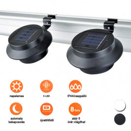 Solární lampa ve volitelných barvách - 2 ks