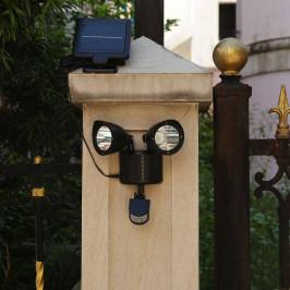 Dvojitá solární lampa s pohybovým senzorem
