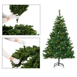 Umělý vánoční stromeček Nordmann s kovovým stojanem ve 4 velikostech, s vůní jako dárek