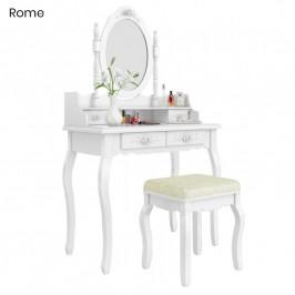 Toaletní stolek s taburetkou v různých typech