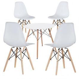 4 ks moderních jídelních židlí se stolem, více barev