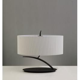 Mantra 1158 Eve, stolní lampa španělského výrobce, 2x20W E27, hnědá/stínítko ze smetanového textilu, 36cm